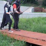 Kane and Evanlyn defending the bridge